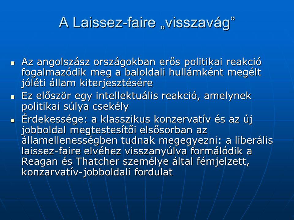 """A Laissez-faire """"visszavág"""