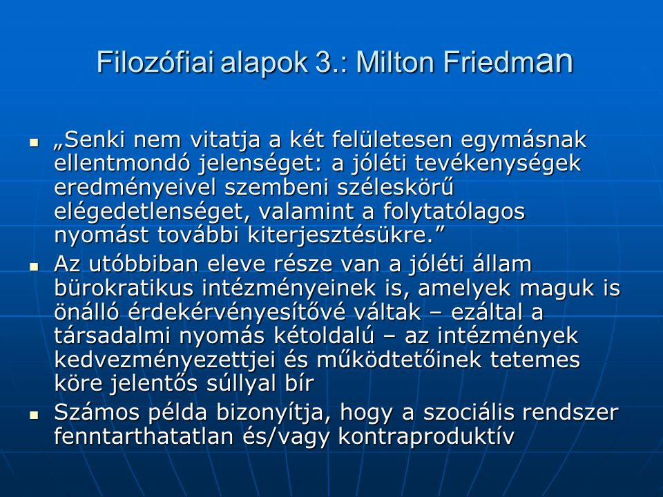 Filozófiai alapok 3.: Milton Friedman