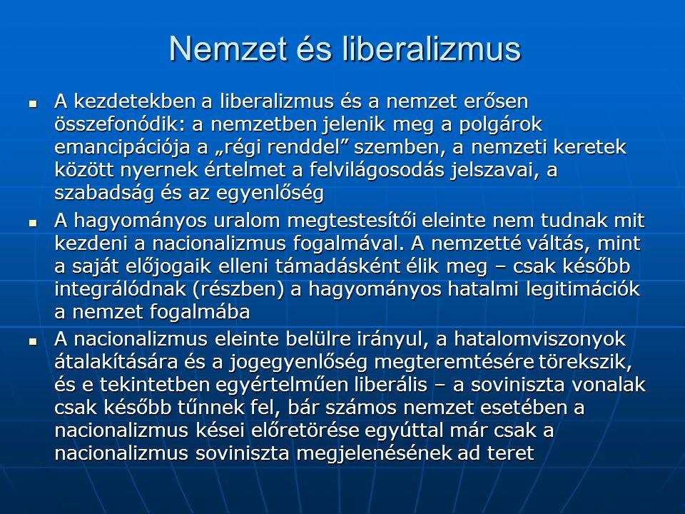 Nemzet és liberalizmus