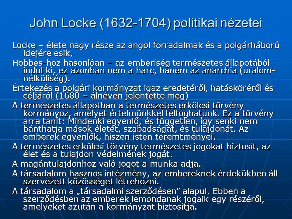 John Locke (1632-1704) politikai nézetei