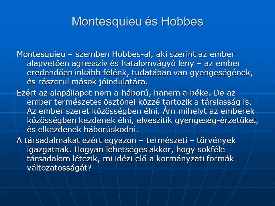 Montesquieu és Hobbes