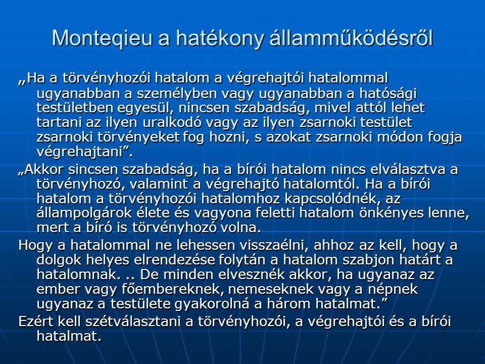 Monteqieu a hatékony államműködésről