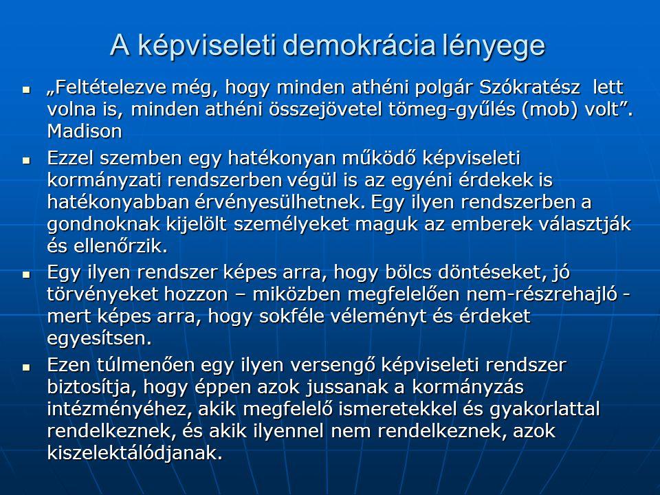 A képviseleti demokrácia lényege