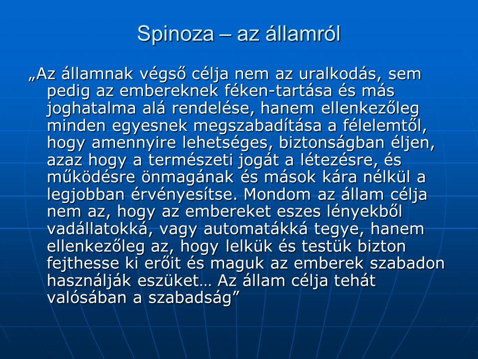 Spinoza – az államról