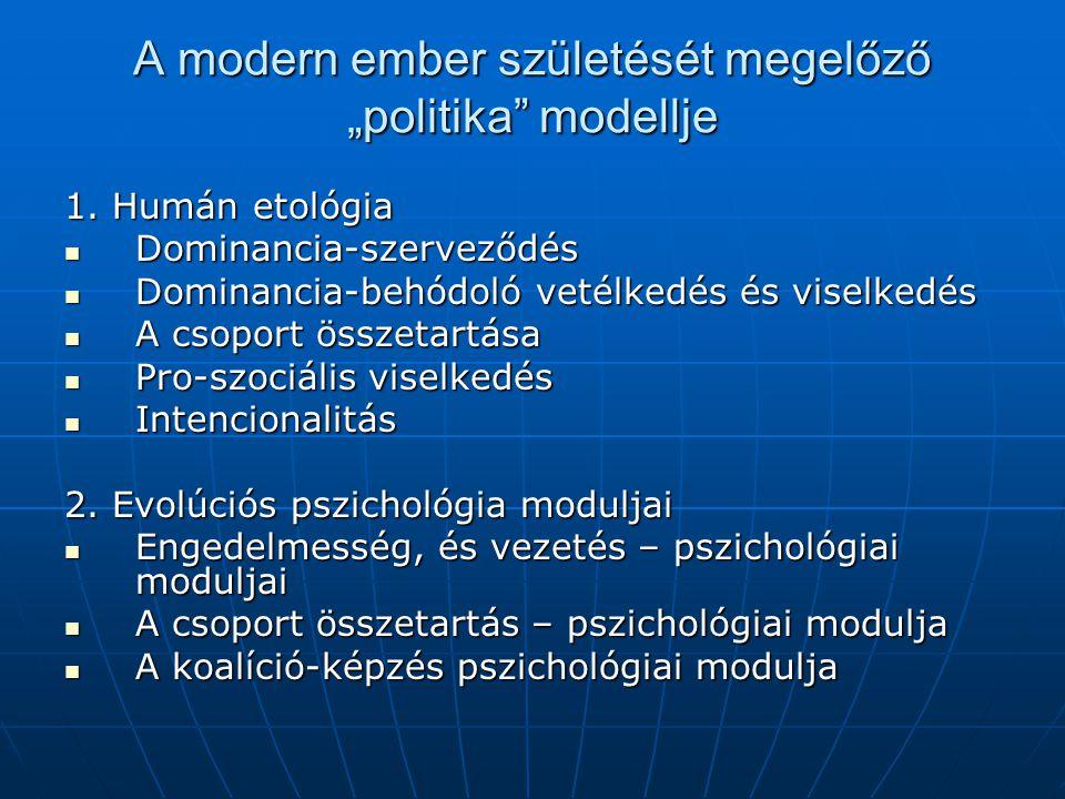 """A modern ember születését megelőző """"politika modellje"""