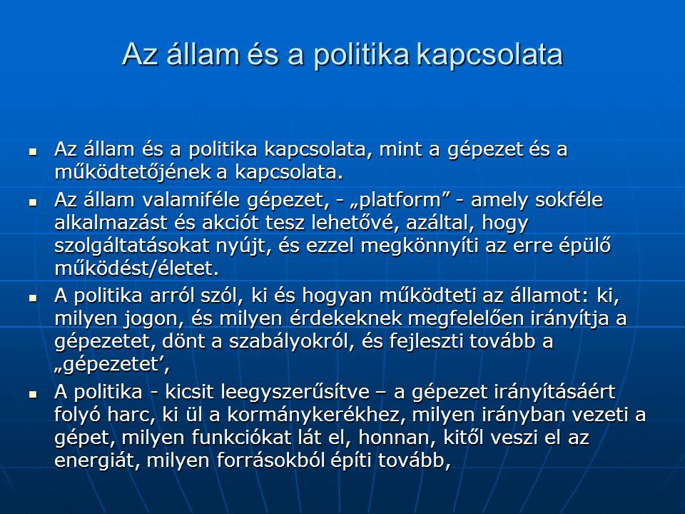 Az állam és a politika kapcsolata
