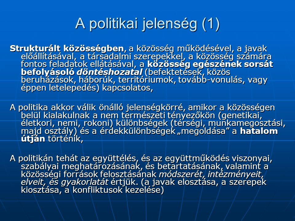 A politikai jelenség (1)