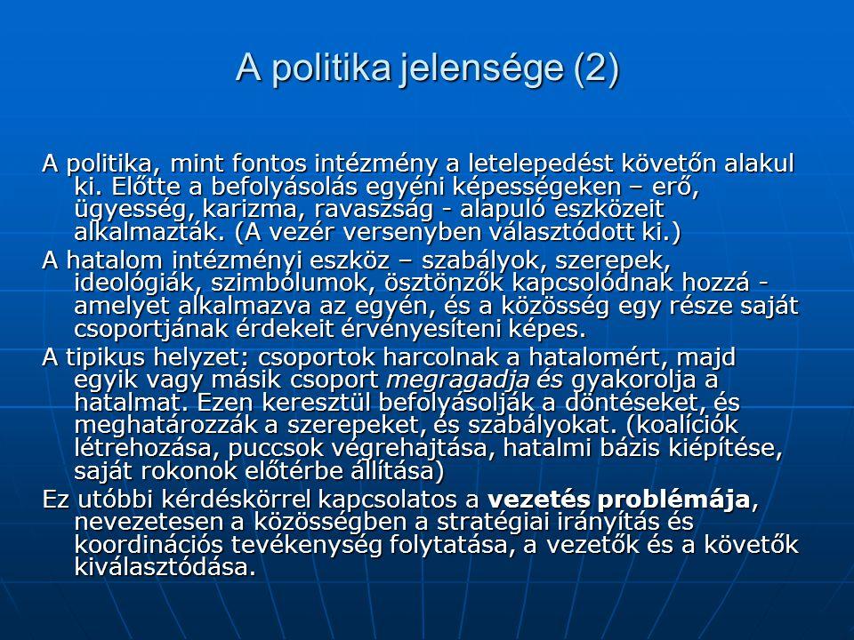 A politika jelensége (2)