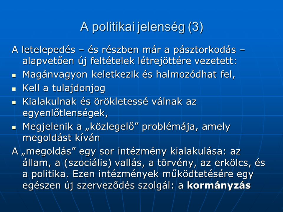 A politikai jelenség (3)