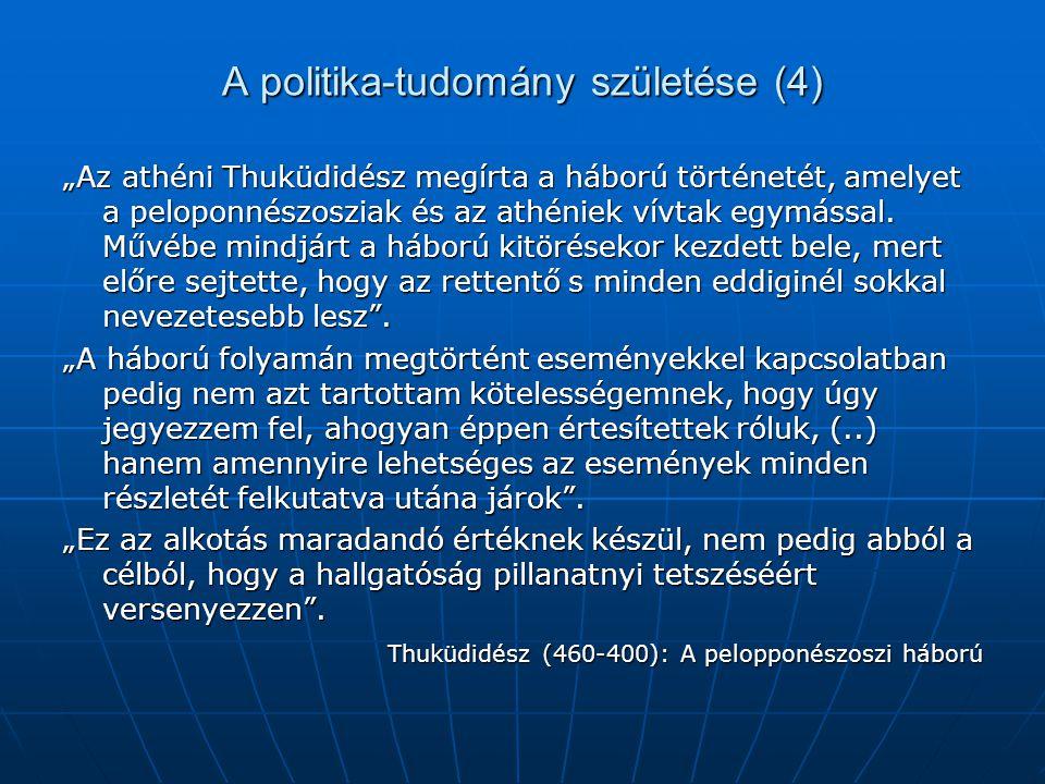 A politika-tudomány születése (4)