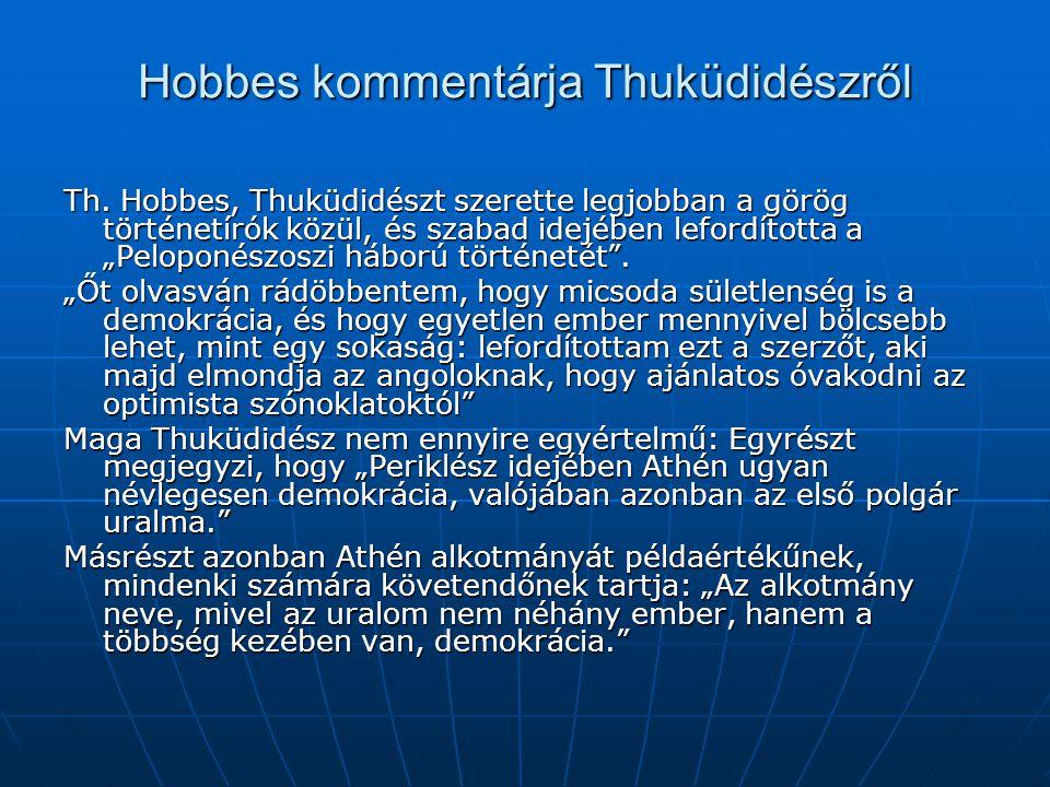Hobbes kommentárja Thuküdidészről