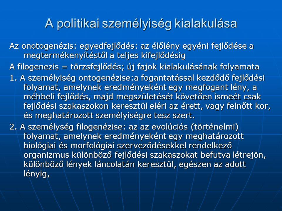 A politikai személyiség kialakulása