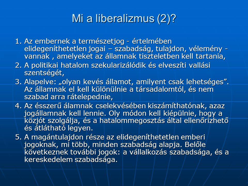 Mi a liberalizmus (2)