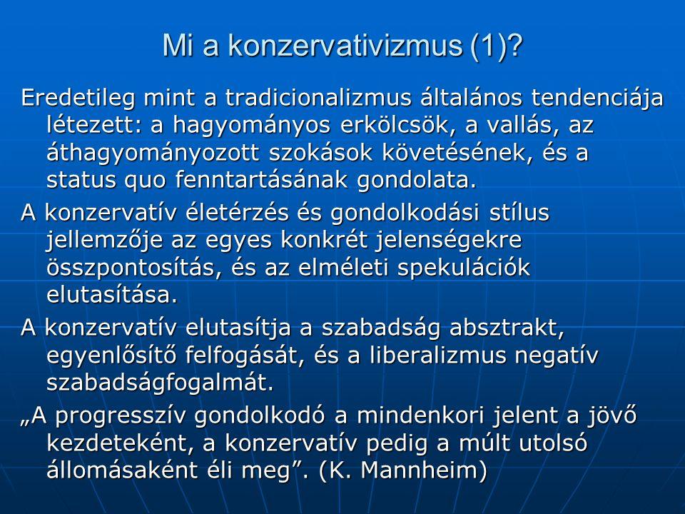 Mi a konzervativizmus (1)