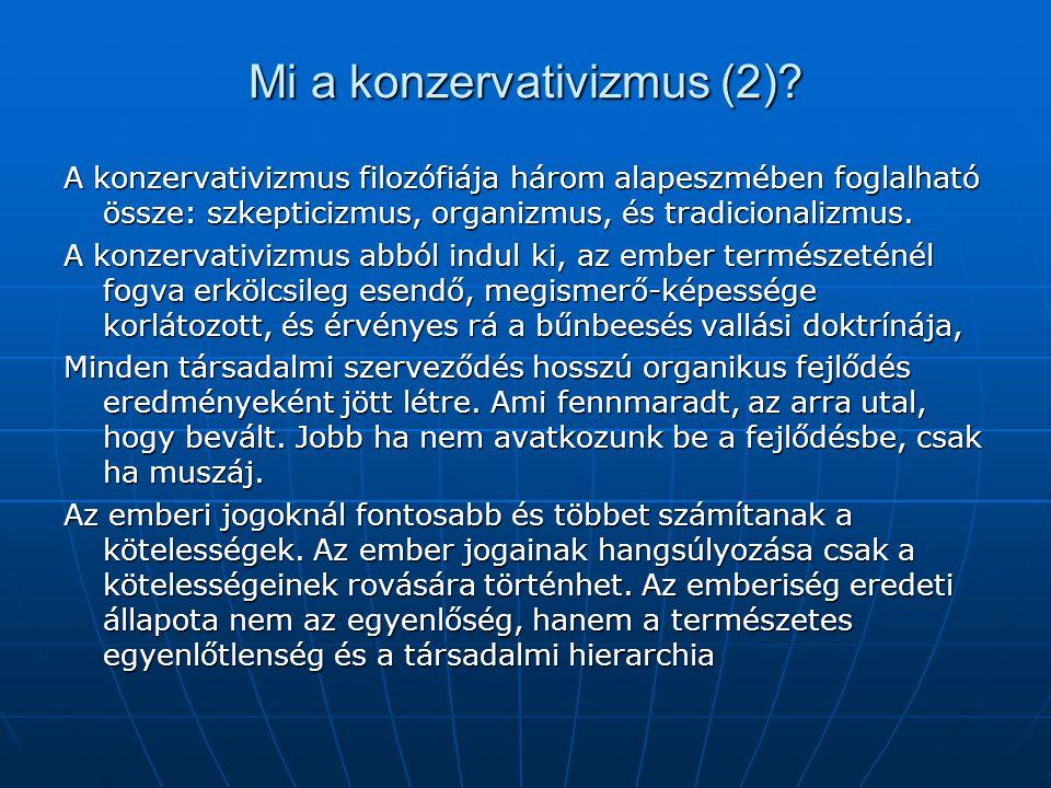 Mi a konzervativizmus (2)