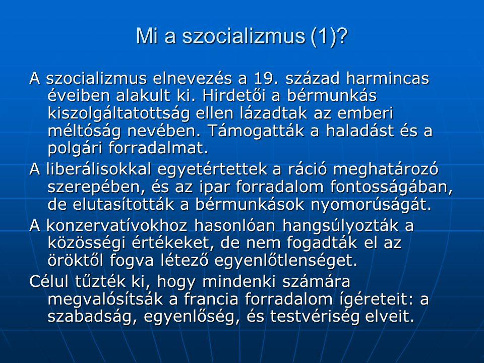Mi a szocializmus (1)