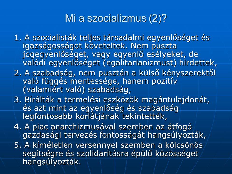 Mi a szocializmus (2)