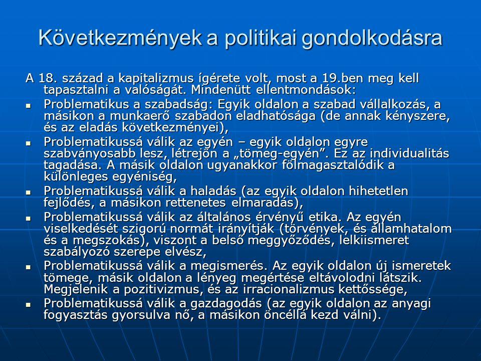 Következmények a politikai gondolkodásra