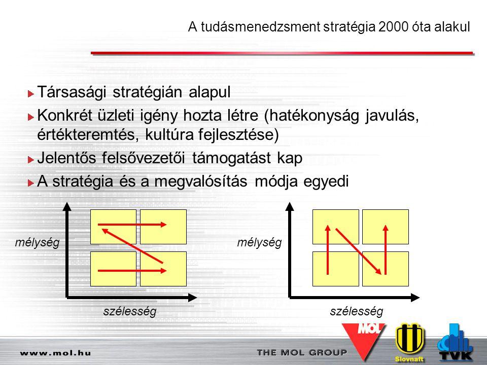A tudásmenedzsment stratégia 2000 óta alakul