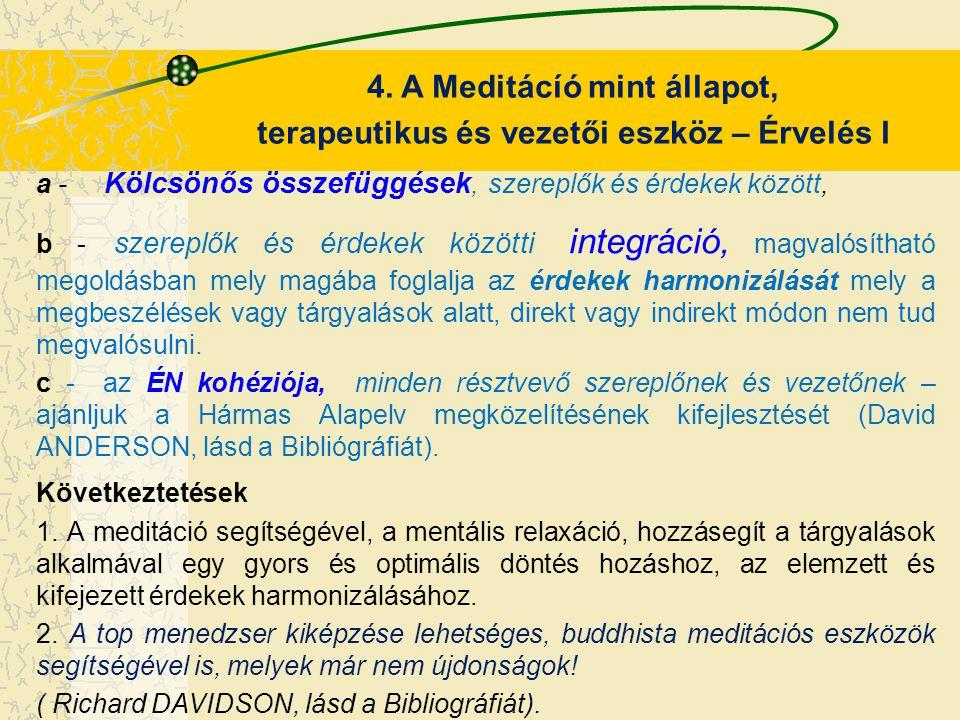 4. A Meditácíó mint állapot,