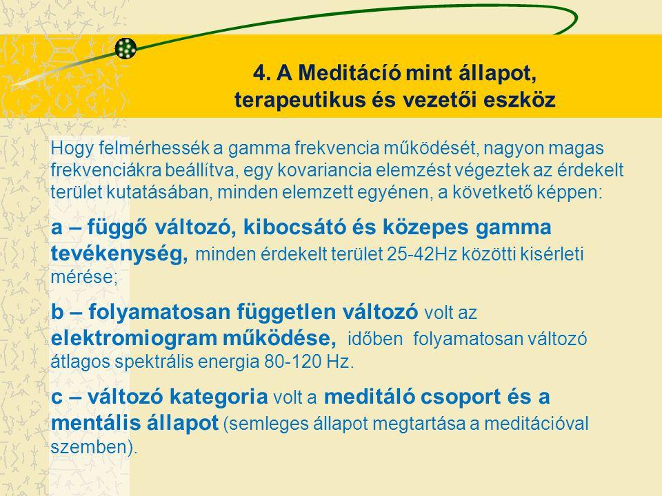 4. A Meditácíó mint állapot, terapeutikus és vezetői eszköz