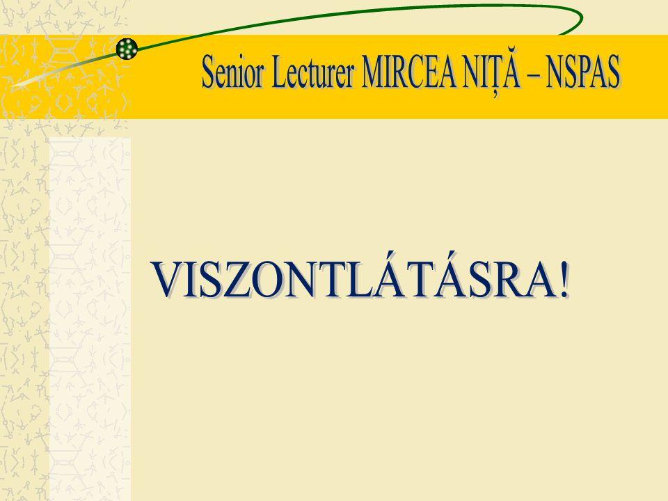 Senior Lecturer MIRCEA NIŢĂ – NSPAS