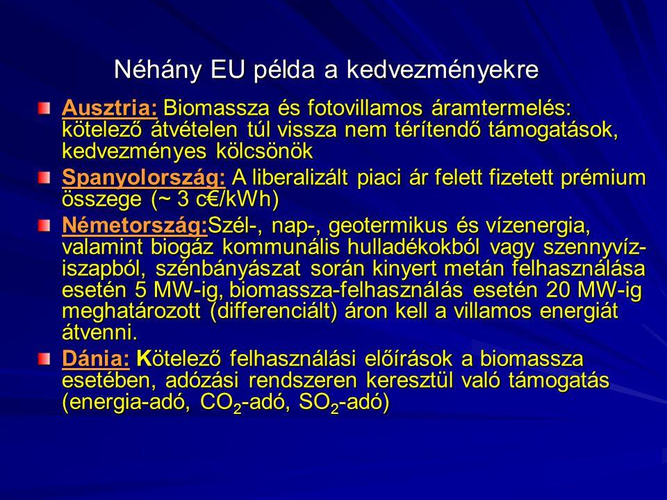 Néhány EU példa a kedvezményekre