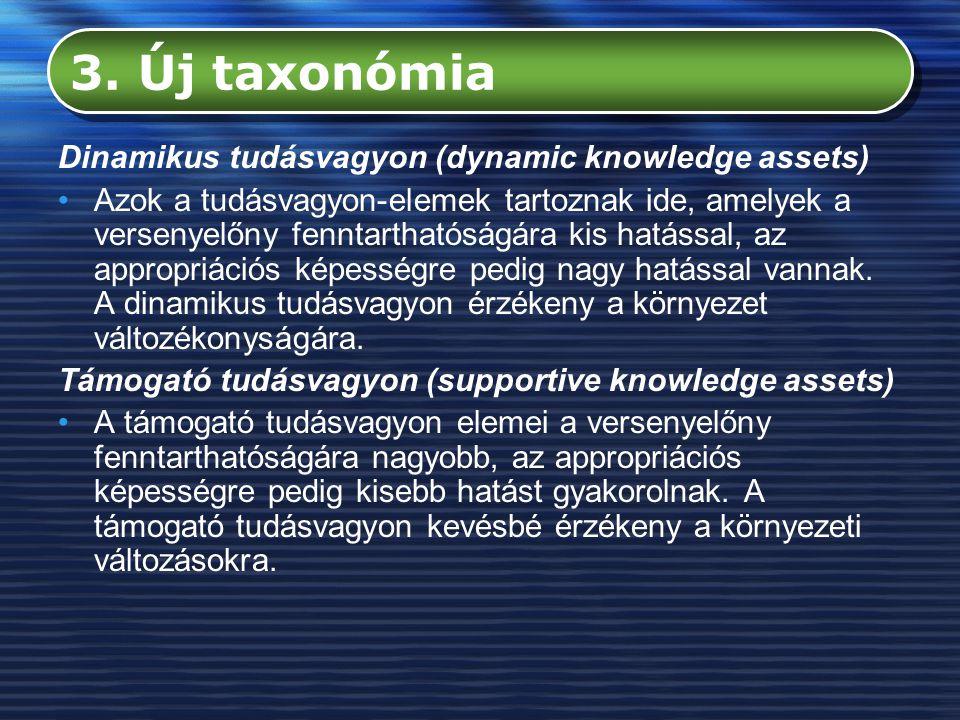 3. Új taxonómia Dinamikus tudásvagyon (dynamic knowledge assets)