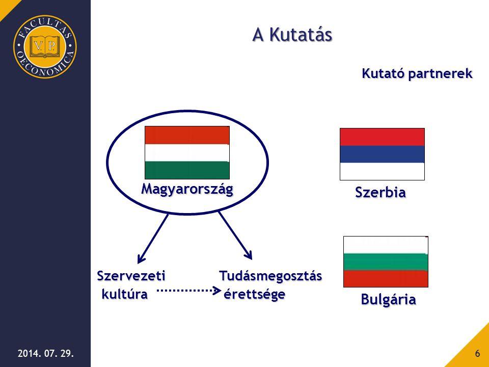 A Kutatás Magyarország Szerbia Bulgária Kutató partnerek