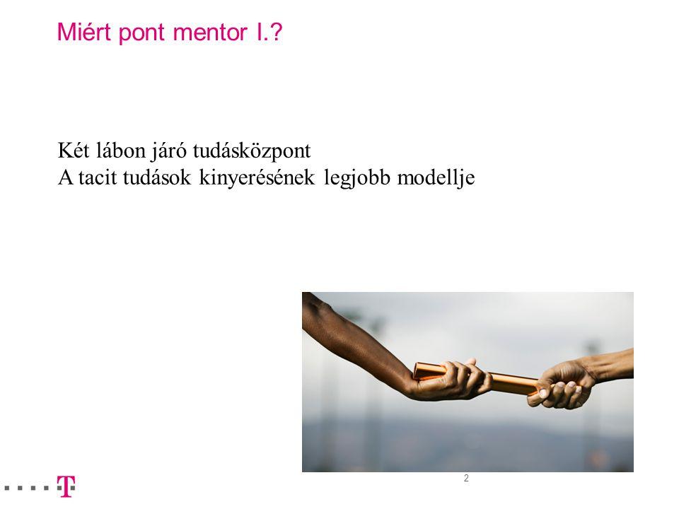 Miért pont mentor I. Két lábon járó tudásközpont