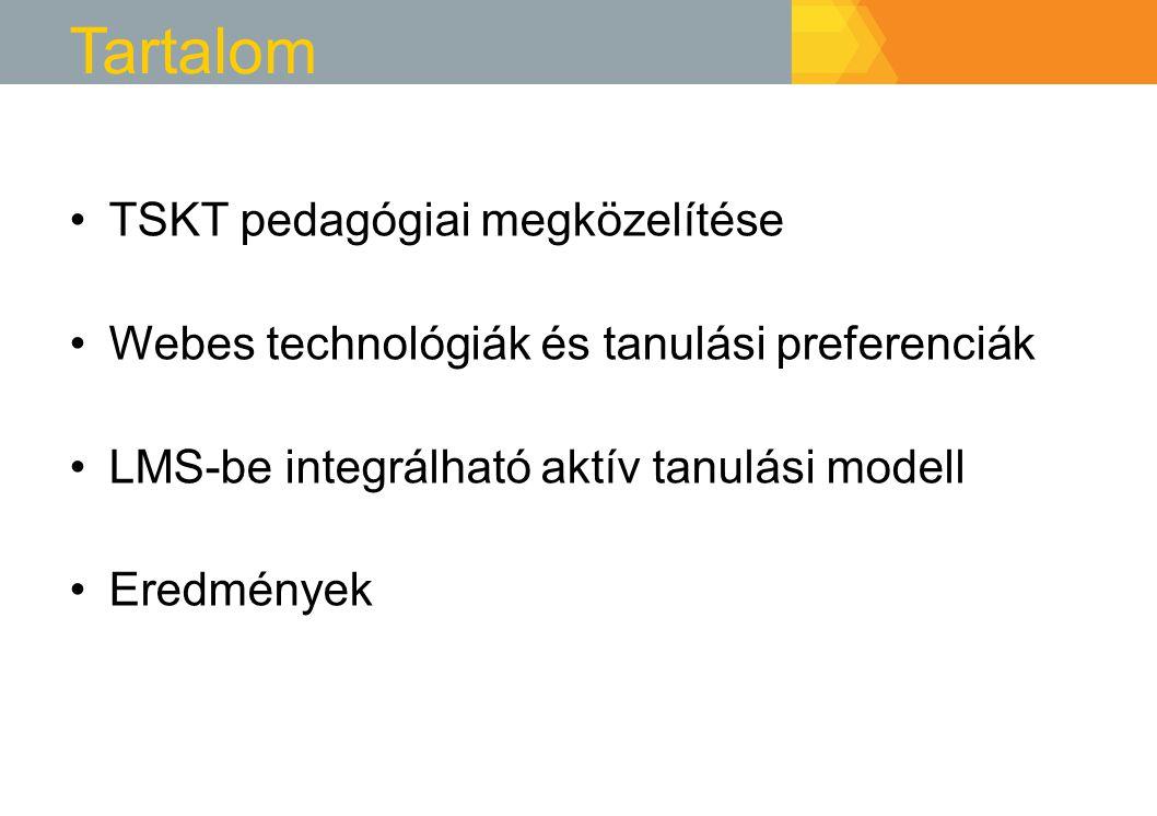 Tartalom TSKT pedagógiai megközelítése