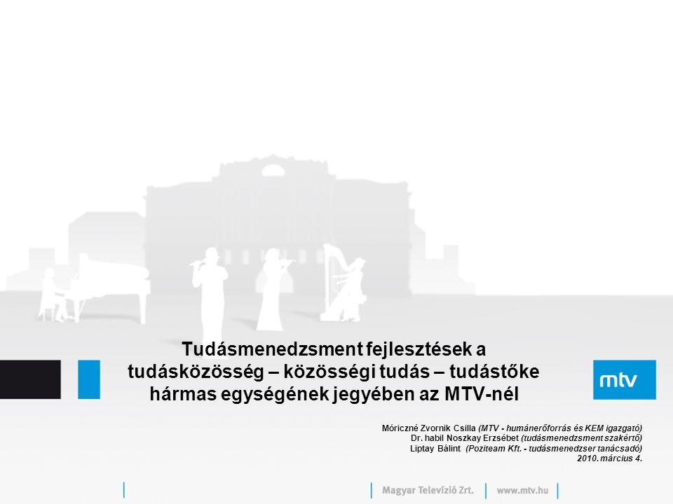 Tudásmenedzsment fejlesztések a tudásközösség – közösségi tudás – tudástőke hármas egységének jegyében az MTV-nél