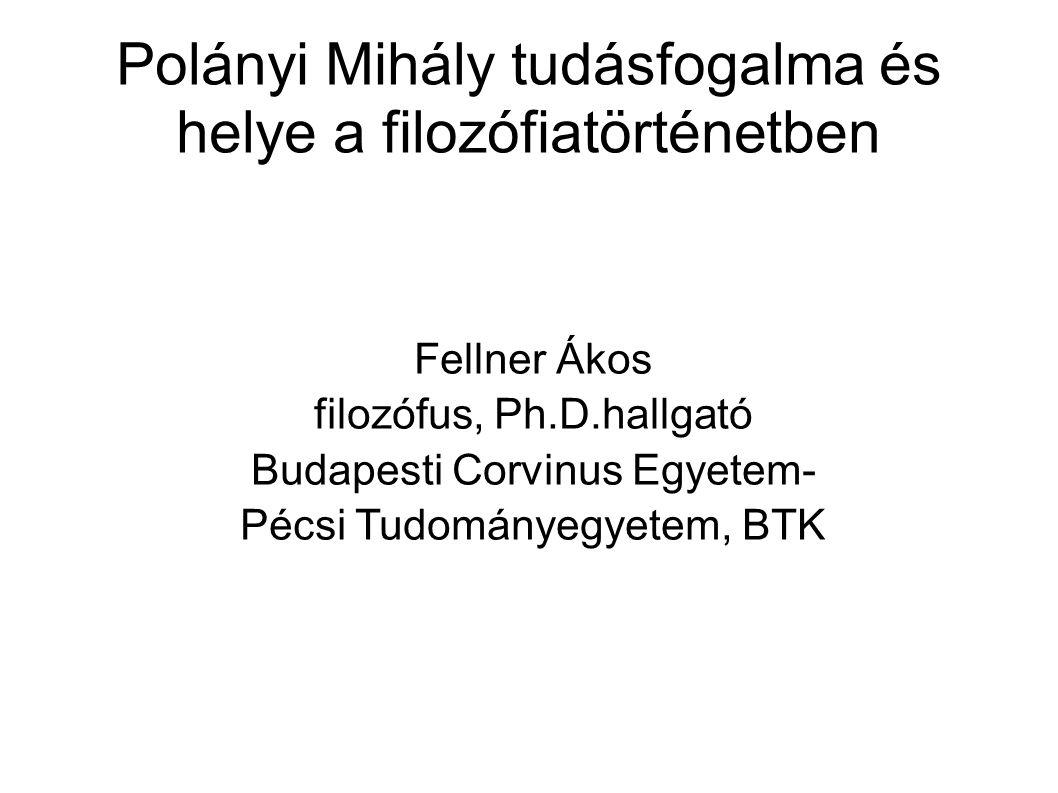 Polányi Mihály tudásfogalma és helye a filozófiatörténetben
