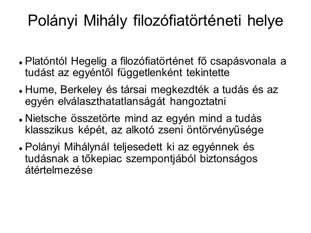 Polányi Mihály filozófiatörténeti helye