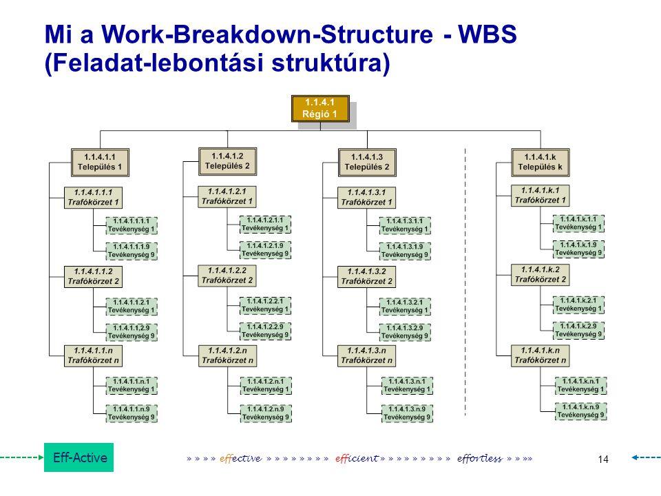 Mi a Work-Breakdown-Structure - WBS (Feladat-lebontási struktúra)