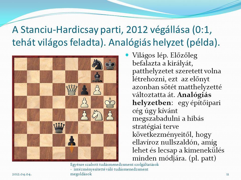A Stanciu-Hardicsay parti, 2012 végállása (0:1, tehát világos feladta)