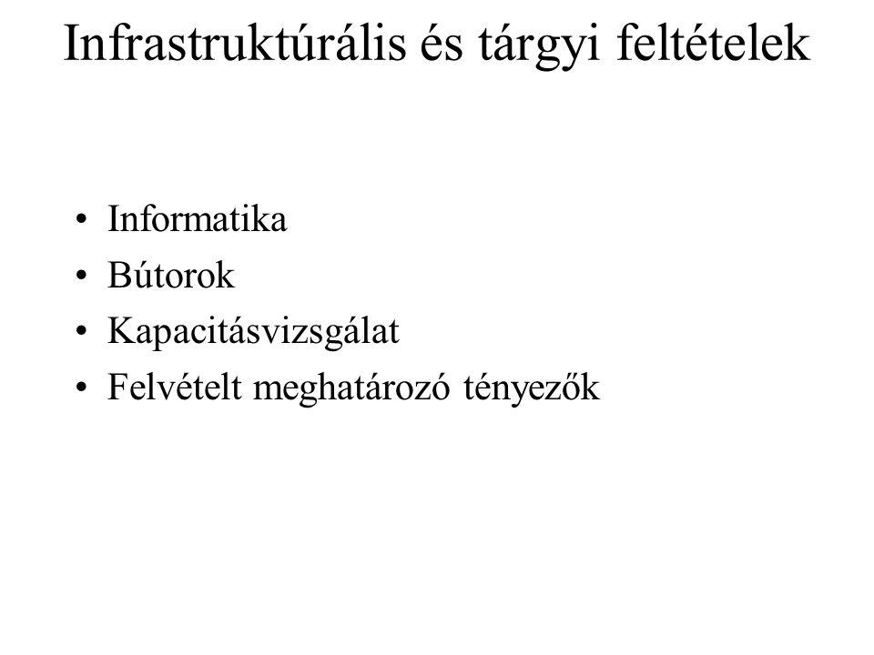 Infrastruktúrális és tárgyi feltételek