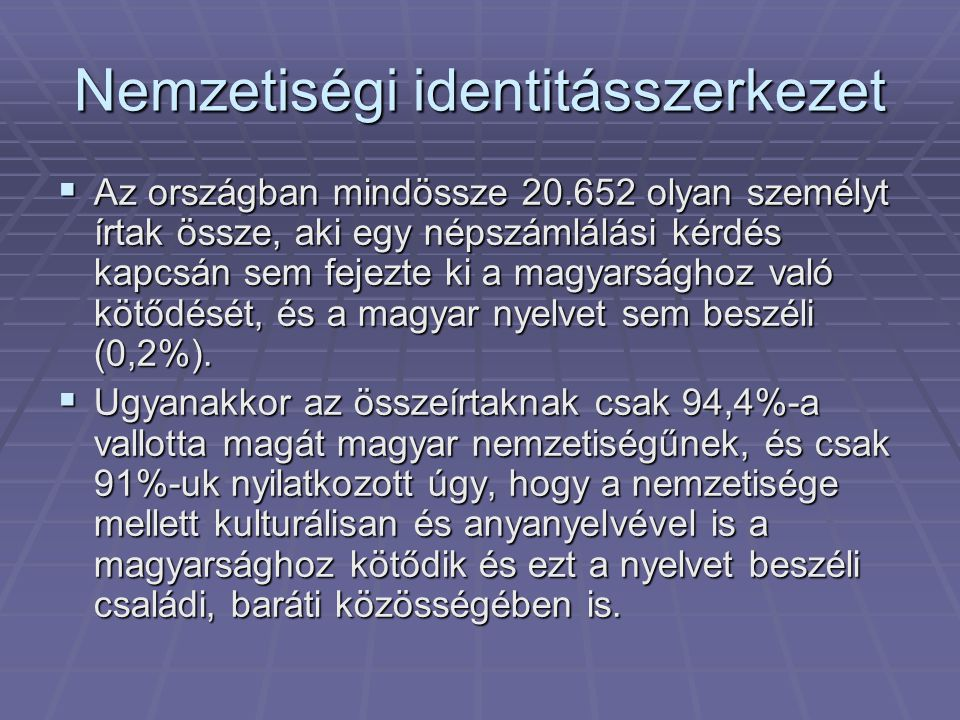 Nemzetiségi identitásszerkezet