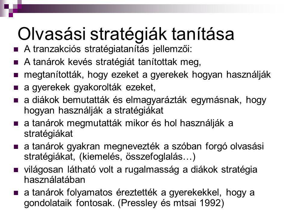 Olvasási stratégiák tanítása