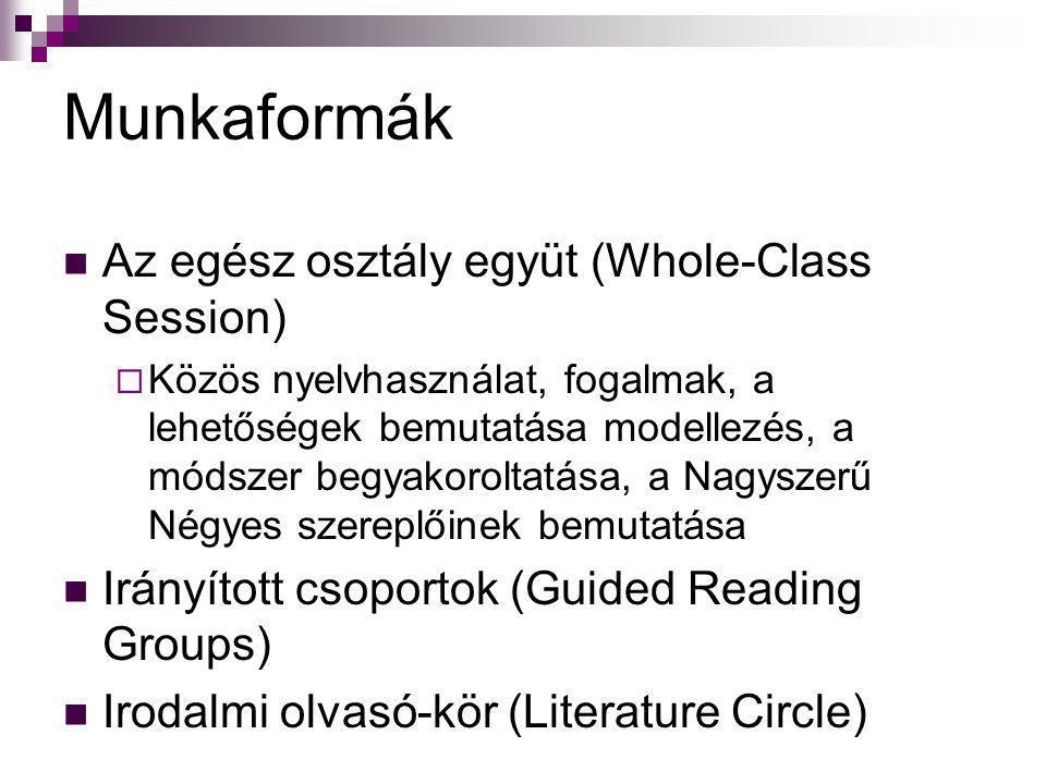 Munkaformák Az egész osztály együt (Whole-Class Session)