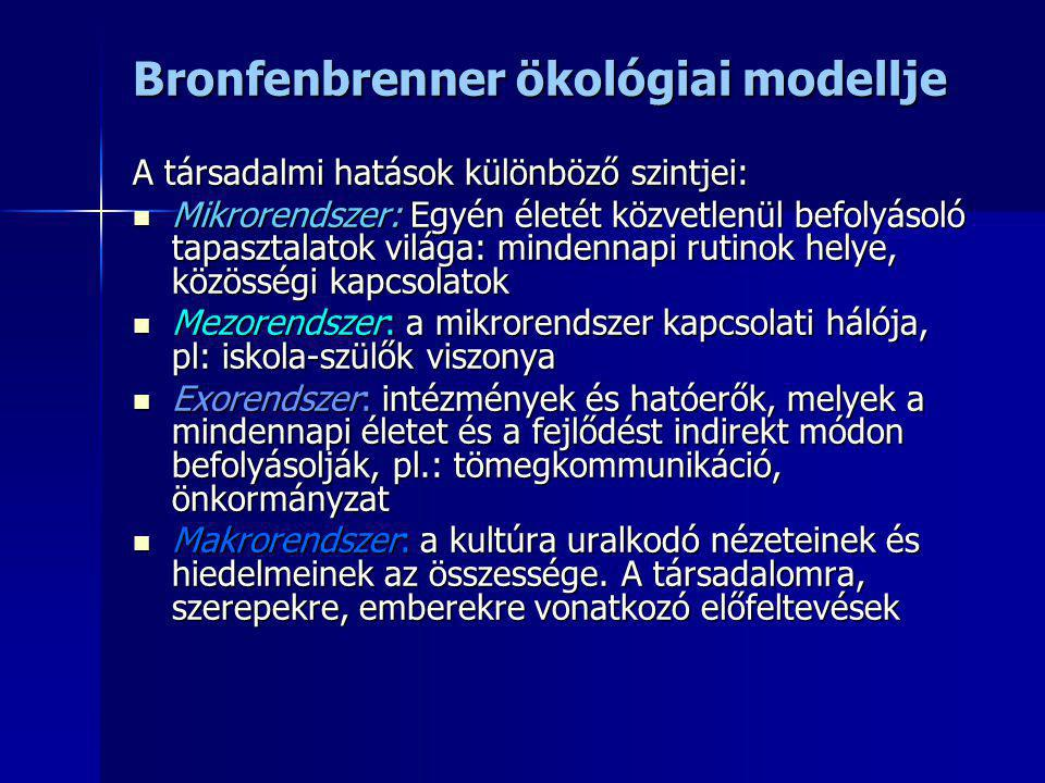 Bronfenbrenner ökológiai modellje