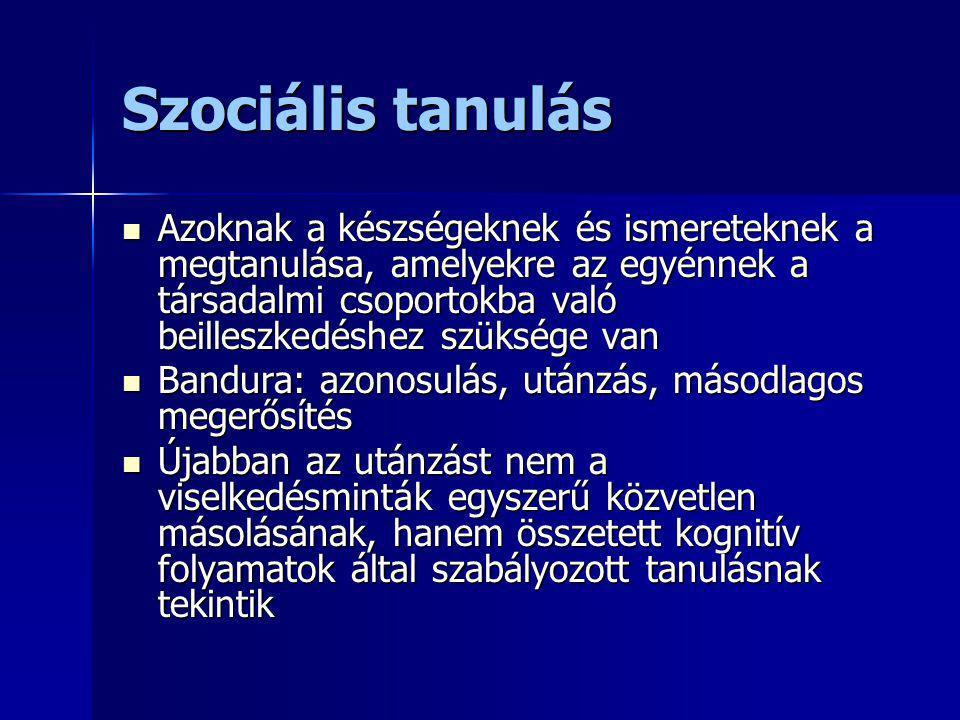 Szociális tanulás
