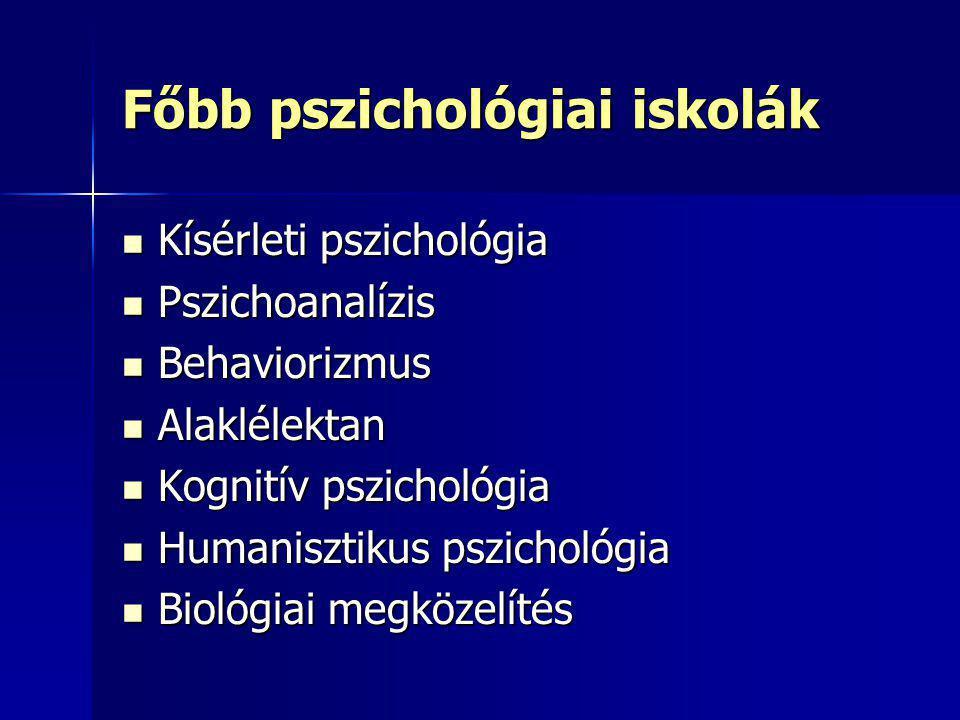 Főbb pszichológiai iskolák