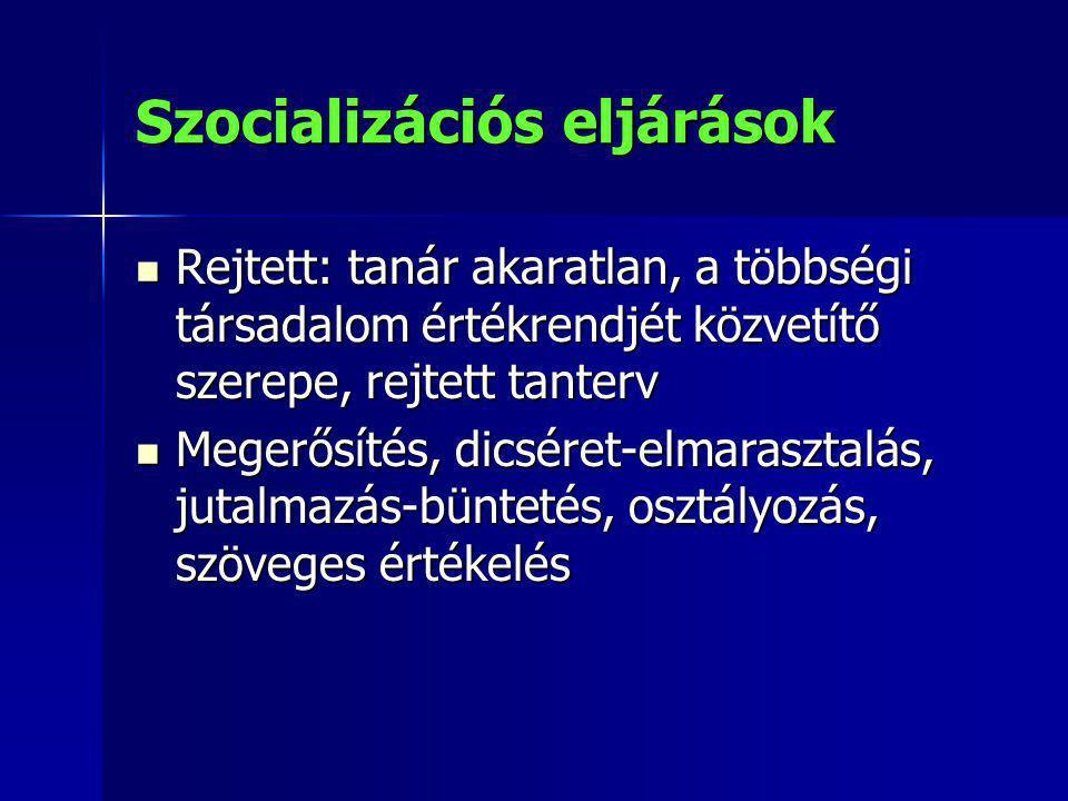 Szocializációs eljárások
