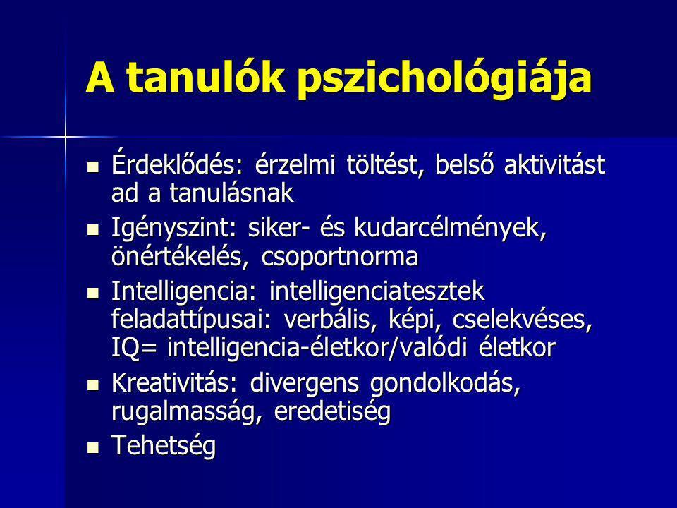 A tanulók pszichológiája