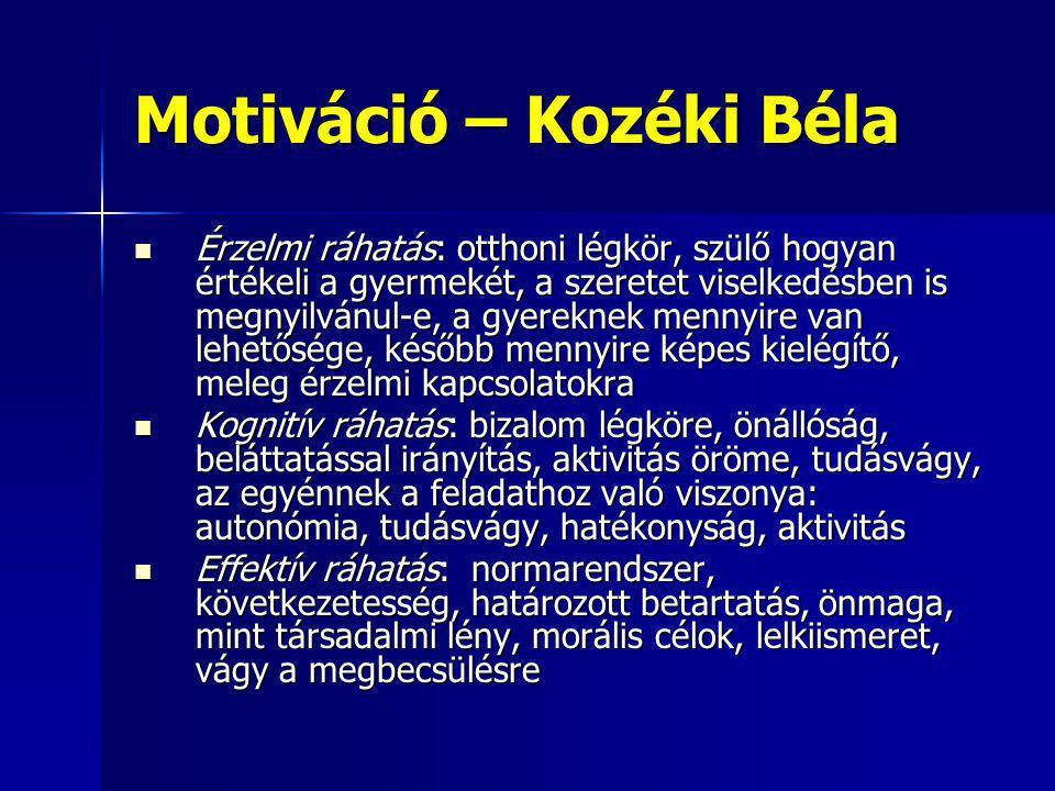 Motiváció – Kozéki Béla