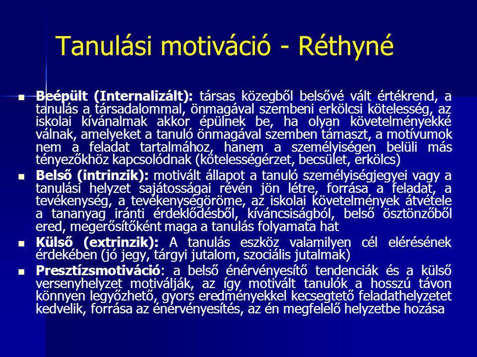 Tanulási motiváció - Réthyné