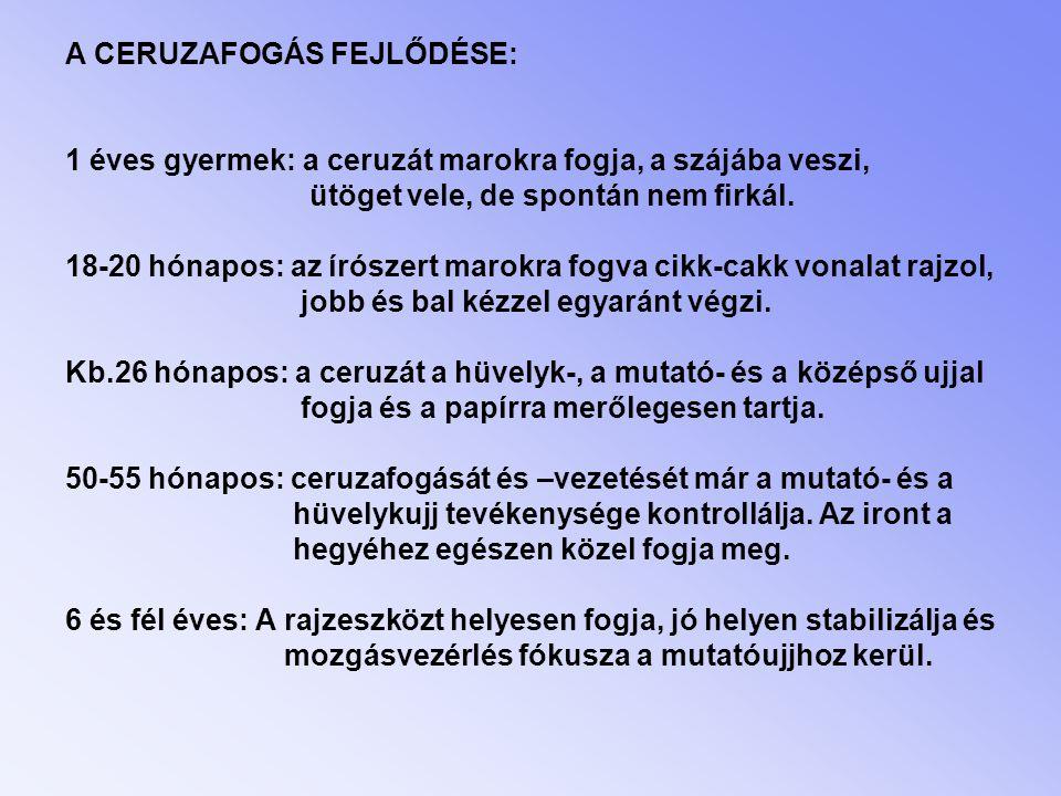 A CERUZAFOGÁS FEJLŐDÉSE: