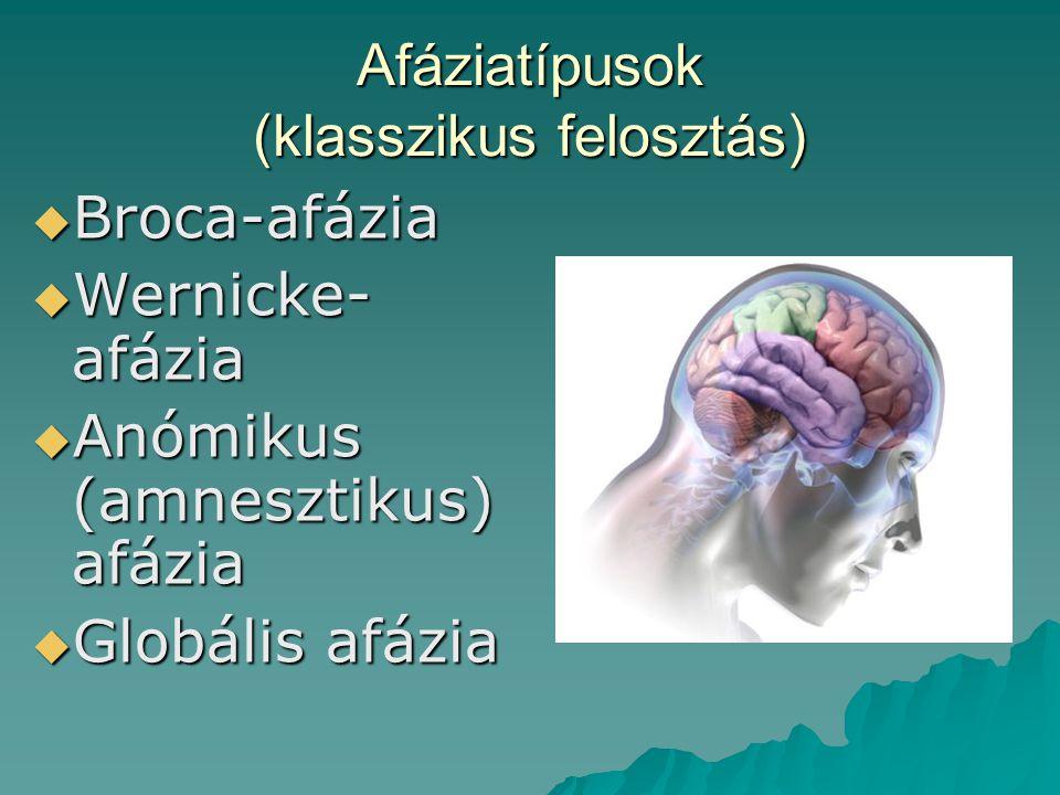 Afáziatípusok (klasszikus felosztás)