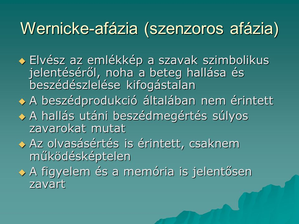 Wernicke-afázia (szenzoros afázia)